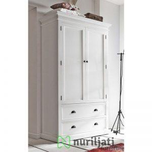 Almari Pakaian Minimallis Duco Putih 2 Pintu