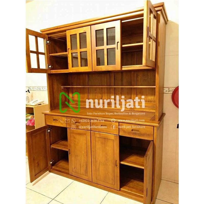 Lemari Dapur Jati Minimalis Kitchen Set