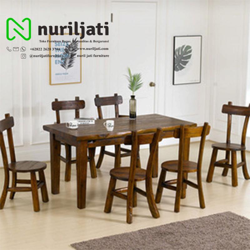 Set Meja Makan Binggo Cafe Jati Antik Nuril Jati Furniture