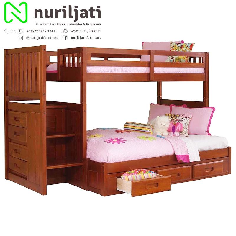 Tempat Tidur Anak Model Tingkat Jati