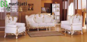 Sofa Tamu Ukir Jepara Livina Putih