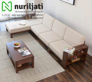 Sofa Tamu Sudut Jati Jepara Terbaru
