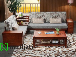Sofa Tamu Sudut Minimalis Mewah Jepara