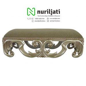 Sofa Bench Ukir Cat Duco Emas