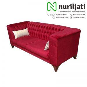 Sofa Model Chester Minimalis Rangka Jati