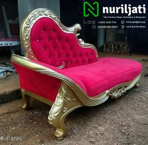 Sofa Santai Lois Jati Ukir Angsa