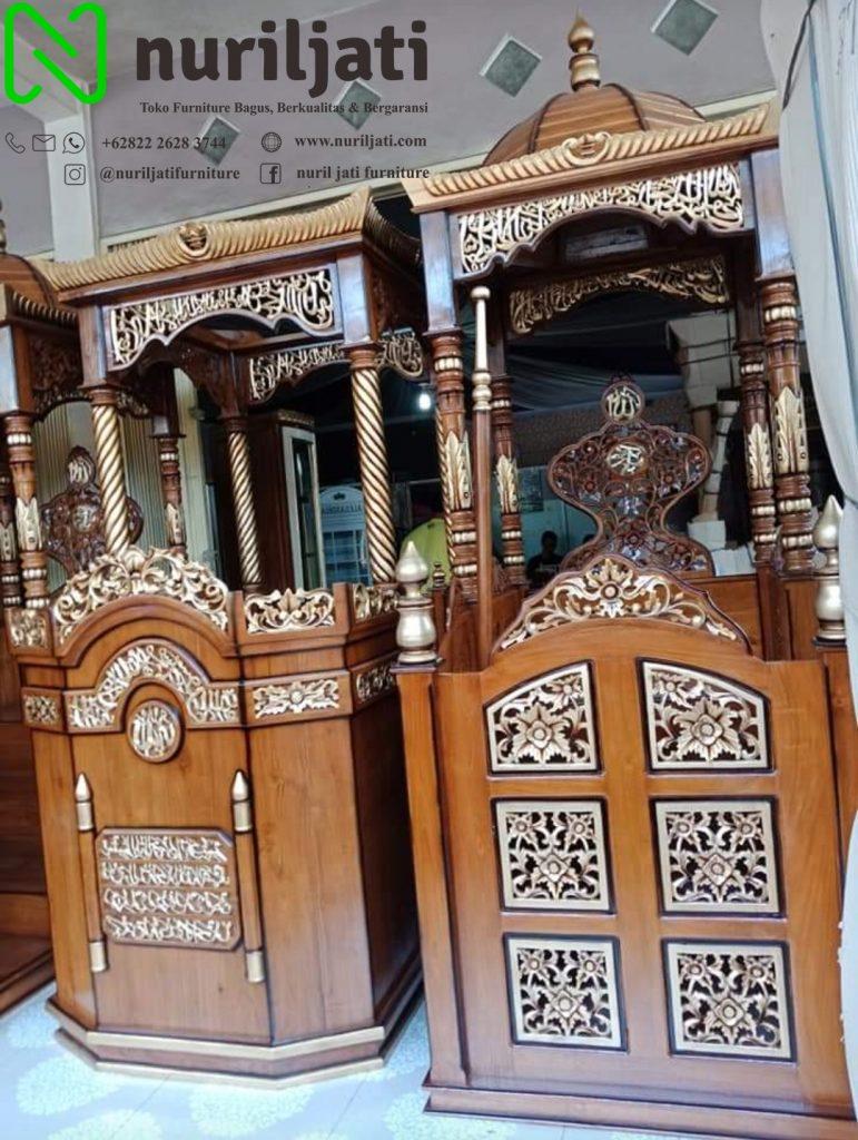Jual Model Mimbar Masjid Ukir Jepara Terbaru