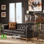 Kursi Sofa Model Chesterfield Warna Hitam