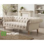 Set Sofa Chesterfield Jati Minimalis White