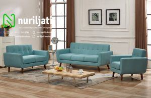 Set Sofa Chesterfield Minimalis Sky Blue