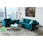 Set Sofa Tamu  Minimalis Light Navy