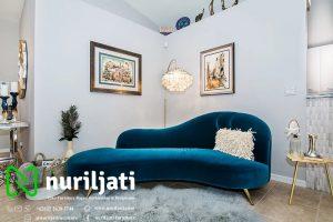 Sofa Chesterfield Jati Lengkung Shapphire