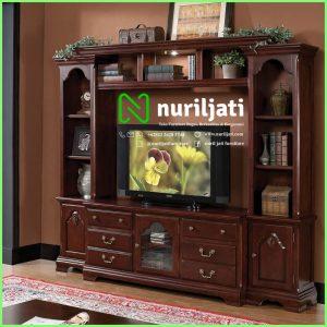 Bufet TV Minimalis Modern Jati Terbaru