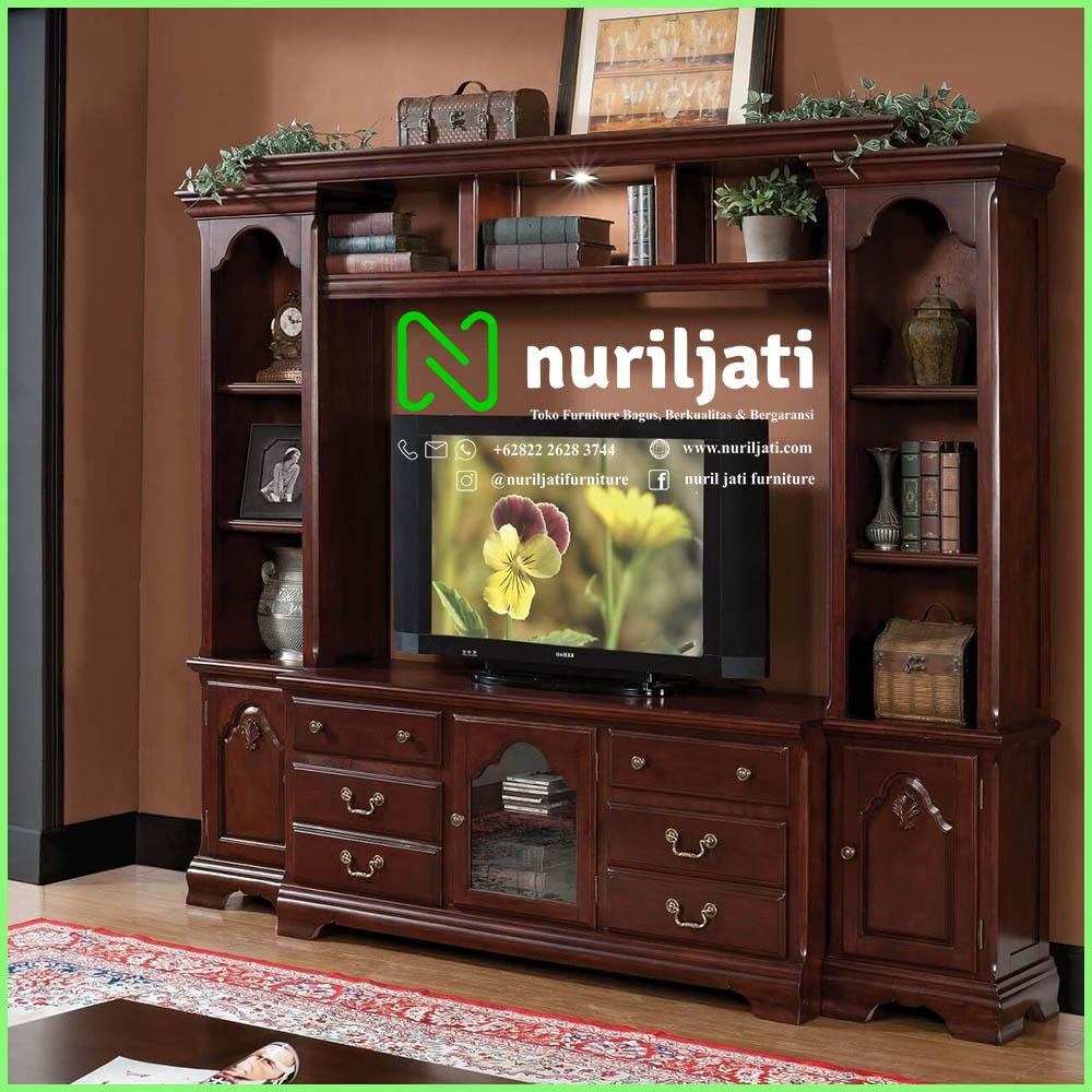 Jual Bufet TV Minimalis Modern Jati Terbaru