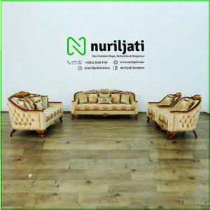 Kursi Sofa Tamu Mewah Modern Kayu Jati Jepara