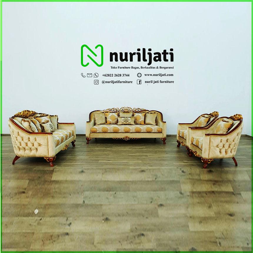 Jual Kursi Sofa Tamu Mewah Modern Kayu Jati Jepara