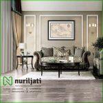 Kusi Sofa Tamu Ukir Mewah Modern Warna Grey