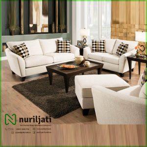 Set Kursi Sofa Tamu Modern Kayu Jati