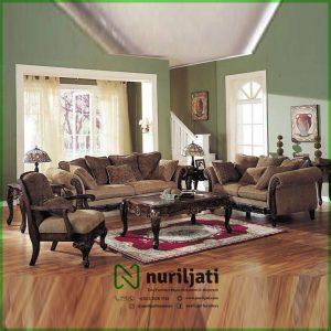 Set Kursi Sofa Tamu Ukir Minimalis Modern